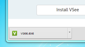 vsee.exe finished downloading