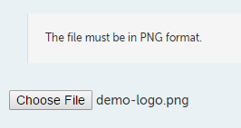 Uploaded logo file