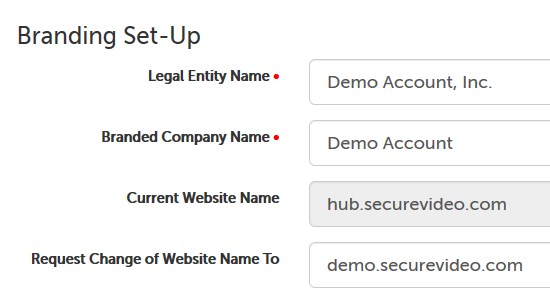 Example name and subdomain