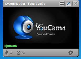 Cyberlink YouCam logo instead of video feed