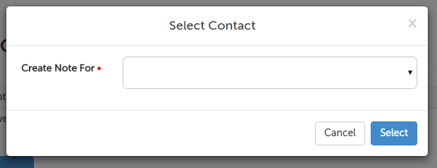 Create note for contact