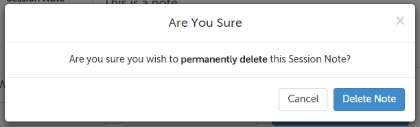 Permanently delete note confirmation