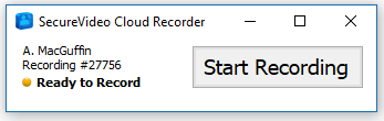 Cloud Recorder with a minimalist interface