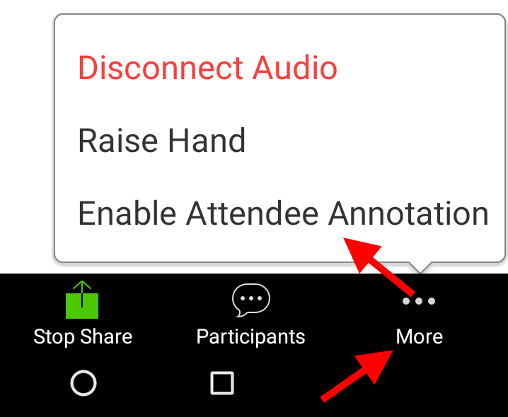 Enable annotation on Android tablet share
