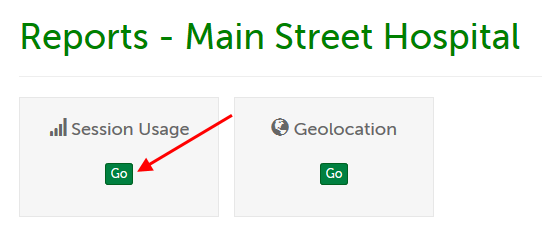 """Go"" button underneath ""Session Usage"""