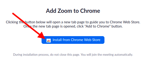 Install from Chrome Webstore